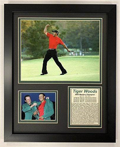 (Legends Never Die PGA Tiger Woods 2005 Masters Champion Framed Double Matted Photos, 12