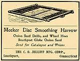 1907 Ad Meeker Disc Smoothing Onion Seed Harrow Jelliff - Original Print Ad