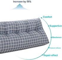 Amazon.com: Almohada de cuña, triangular, grande, con ...