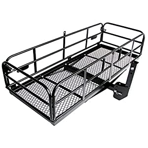 "Merax Foldable Hitch Cargo Carrier Mounted Basket Luggage Rack with 2"" Receiver"