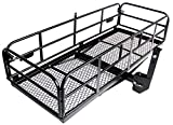Merax Foldable Hitch Cargo Carrier Mounted Basket Luggage Rack with 2'' Receiver