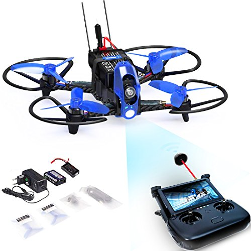 Weyland Quadcopter Racing Drone RTF WD110 PRO with Devo f8S Remote Control & 5.8G LCD Screen Real Time Transmitter/F3 Fight Control/FPV Camera/Video Transmitter