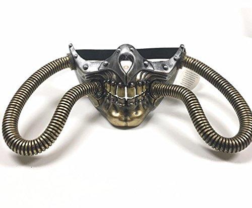 2017 Sickest Coolest Skull Steampunk Bottom Half Gold/Silver Unisex Masquerade Mask with (Coolest Masks)