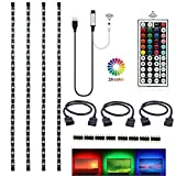 Topled Light RGB TV PC LED Strip Light Kit 4x50cm with 44Keys Remote