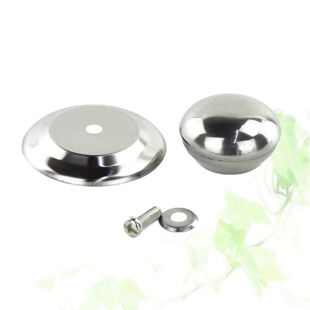 BESTONZON 4 piezas de acero inoxidable tapa de la tapa de la olla cubierta de la olla de reemplazo universal manija de la perilla para la cocina casera