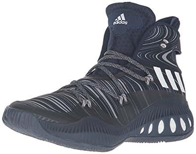 adidas Performance Men's Crazy Explosive Basketball Shoe, Collegiate Navy/White/Dark Navy, 4 M US