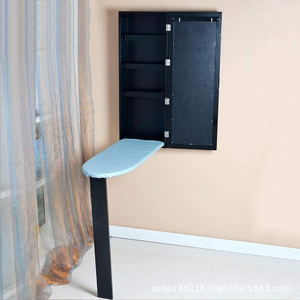 WGG Tabla Tabla de planchar empotrada en la pared Tabla de planchar plegable Tipo armario Armario de almacenamiento Armario caliente Tabla de planchar Estación de planchado de tamaño pequeño W35.5 *