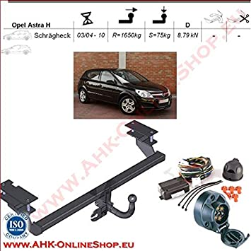 AHK Remolque con eléctrico Juego de 7 pines para Opel Astra III H 2004 – 2009