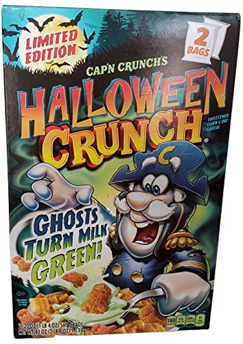 Captain Crunch Halloween Cereal (Capn Crunchs Halloween Crunch Ghosts Turn The Milk GREEN! Two 20 oz)