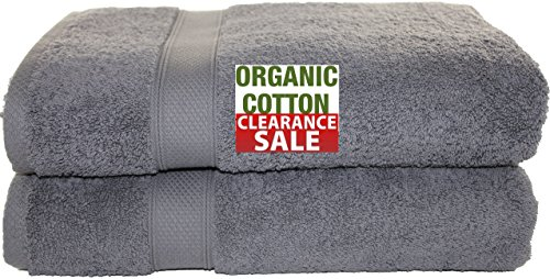 Aspendos Linen 100% Organic Turkish Cotton Premium Quality Luxury Hotel & Spa Turkish Towels Super Soft, Plush, Ultra Absorbent, Quick dry, long lasting (Gray, Bath Sheet- Set of (Long Organic Plush)