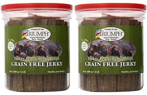 (Triumph Dog Turkey, Pea, & Berry Grain Free Jerky, 24-Ounce)