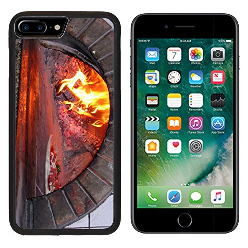 MSD Premium Apple iPhone 7 Plus Aluminum Backplate Bumper Snap Case Pizza Oven Wood Fired Burning Image 619140