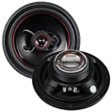 Audiopipe Redline 6.5'' 3 way 5 oz magnet car speaker slim style(pair)