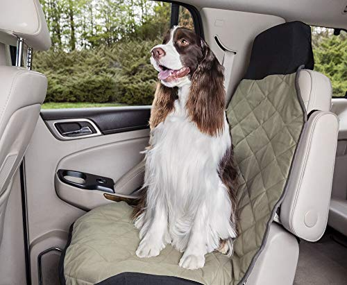 PetSafe Happy Ride Quilted Bucket Seat Cover - Fits Cars, Trucks, Minivans and SUVs - Padded Cotton Fabric - Durable Vehicle Seat Protector - Green