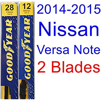 2014-2015 Nissan Versa Note Replacement Wiper Blade Set/Kit (Set of 2 Blades) (Goodyear Wiper Blades-Premium)