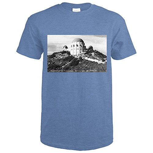 Hollywood, California - Griffith Park Observatory and Planetarium - Vintage Photograph (Heather Royal T-Shirt XX-Large) - Old Royal Observatory