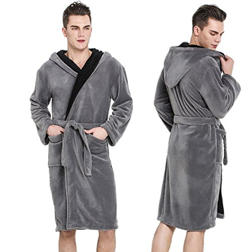 COSMOZ Hooded Fleece Bathrobe Drowsy