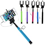 Selfie Stick Monopod Extendable With 3.5MM Aux Cable For Android, Iphone