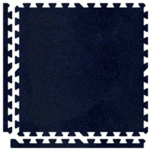 6' x 6' (9 pieces) Navy Blue Premium SoftCarpets Interlocking Comfortable Carpet/EVA Foam Rubber