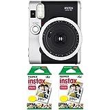 Fujifilm FU64-INSM9K020 Fujifilm INSTAX MINI 90 NEO CLASSIC Camera and Film Kit, 20 Exposures (Black/ Silver)