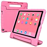 Apple iPad Pro 12.9 kids case, [2-in-1 Bulky Handle: Carry & Stand] COOPER DYNAMO Rugged Heavy Duty Children's Cover + Handle, Stand & Screen Protector - Boys Girls Elderly (Pink)