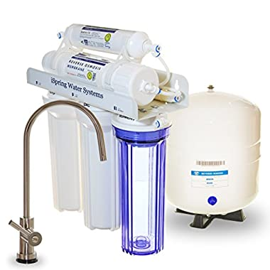 iSpring RCC7 WQA Gold Seal 5 Stage 75 GPD Reverse Osmosis Water Filter