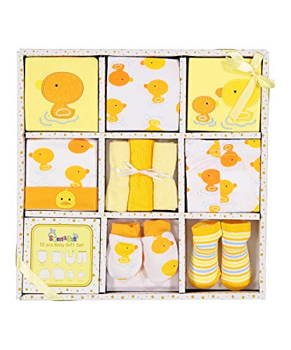 Gift Piece 10 Pack - Sweet & Soft 10 Piece Basket Set (BH244 Yellow)