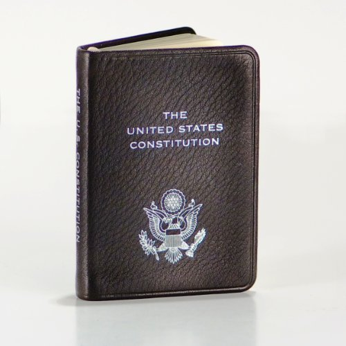 Eagles Embossed Leather (United States Constitution, Pocket Size, Genuine Leather, Embossed American Eagle, 2-3/4