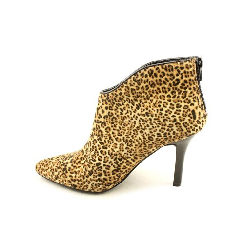 by Boots Pizazz Carlos Womens Fabric Fashion Ankle Leopard Santana Pointed Toe Suede Carlos awdzxIa