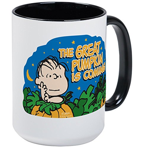 CafePress The Great Pumpkin Is Coming Mugs Coffee Mug, Large 15 oz. White Coffee -
