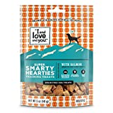 """I And Love And You"" Super Smarty Hearties With Salmon Grain Free, Functional Dog Treats, 5 Oz (Pack Of 3) For Sale"