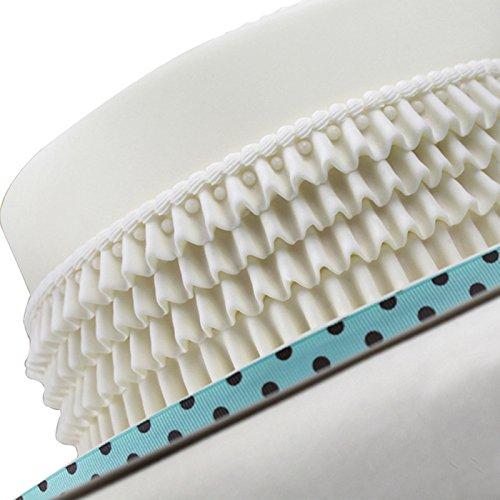 Joinor Silicone Chocolate Fondant Cake Decorating Molds Cake Waves Cake Lace Fondant Mold Pleated Skirt Cake Border Mold