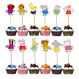 Piggy Pig Cupcake Toppers Party Pack for 24 Cupcakes