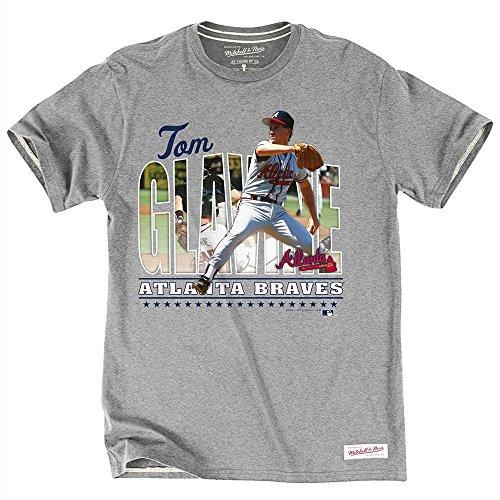 Mitchell & Ness Tom Glavine Atlanta Braves MLB Caricature Men's T-Shirt ()