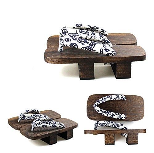 Nuoqi Japanska Trä Geta Sandals Täpper Flip Flops Cosplay Tillbehör 26b