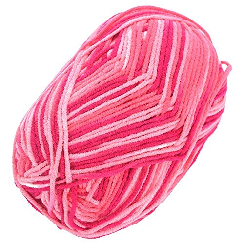 Bamboo Cotton Yarn - 2 Ball Pack Soft Cotton Milk Fiber Yarn 50g Multicolors Hand Knitting - Brown Winter Lace Multicolor Thin Wool Bowl Rayon Yarn Blossom Shirt Crochet Cherry Bamboo Co