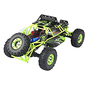 RC Toy,RC Cars Truck- [WL R/C Rock Crawler 1/12 Scale High-speed Remote Control Car] Off-Road Radio Controlled Electric Vehicle, Gift For Friends,Kids Boys,Sons,Adults (Green)