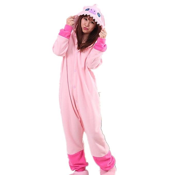 BOMOVO Pijama de una pieza supersuave - Con capucha - Stitch - rosa