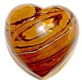 Tiger's Eye Heart 02 Protection Grounding Healing Crystal Energy 3.25''