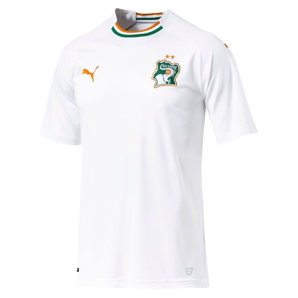 Puma 2018-2019 Ivory Coast Away Football Soccer T-Shirt Trikot