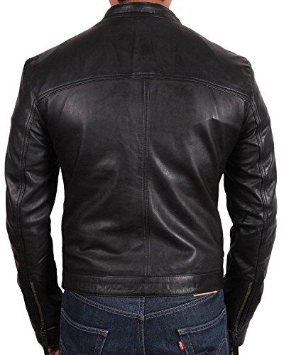 del motorista de Bombardero hombre Para del la cuero diseñador del capa Brandslock chaqueta qt6OEB