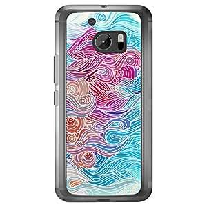 Loud Universe HTC M10 Waves 1 Printed Transparent Edge Case - Multi Color