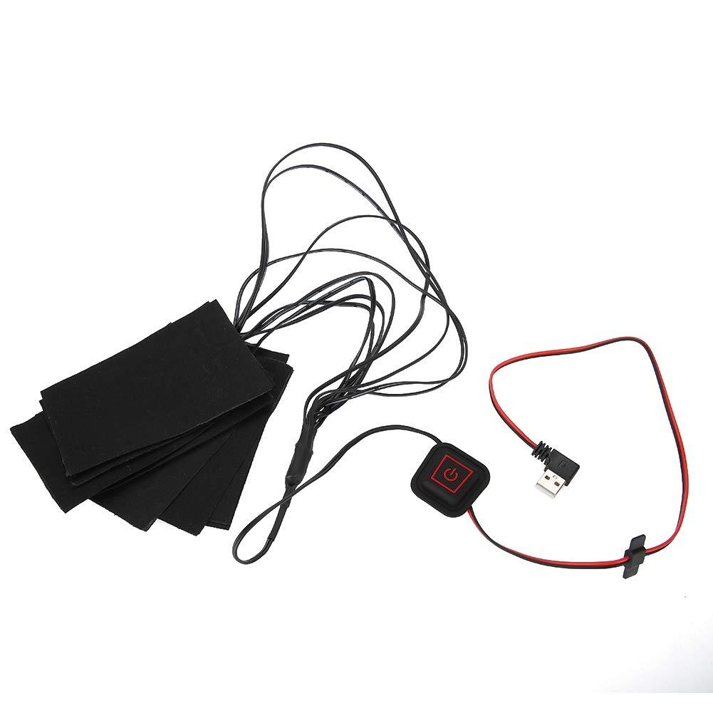 Pad Riscaldante USB Cuscinetti Riscaldamento in Fibra di Metallo di Protezione per Giubbotto Alomejor 8 in 1 Cuscinetto Riscaldante