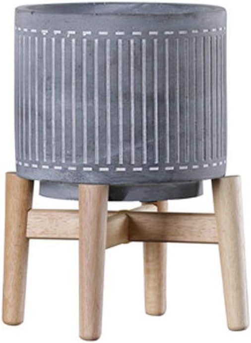 EDCM - Maceta de Cemento, decoración de macetas Grandes y Suaves, decoración para el salón, decoración de Flores, macetas de Suelo de jardín: Amazon.es: Juguetes y juegos