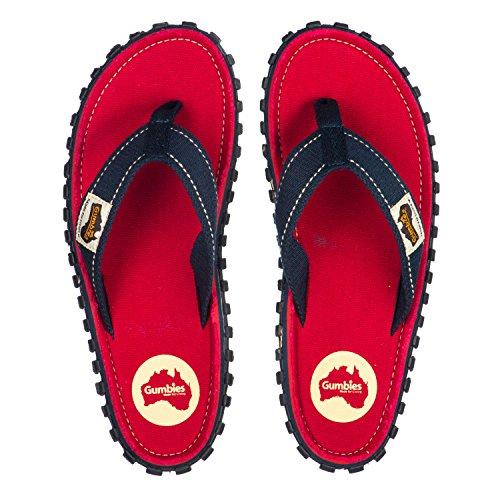 Rosso Gumbies EU 36 da Spiaggia Infradito Adulto Numero Islanders 12 UK Sandali Calzature 7wr7ZqR