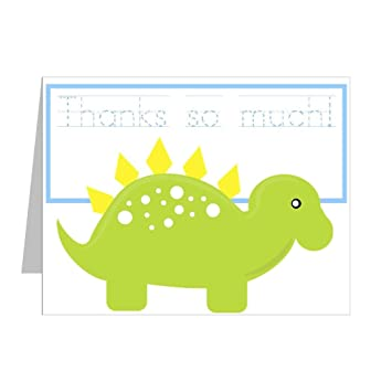 Amazon.com: Traceable Thank You Notes for Kids: Dinosaur Delight ...