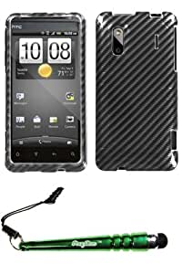 FoxyCase(TM) FREE stylus AND HTC Hero 4G Kingdom Racing Fiber (2D Silver) Phone Protector Cover cas couverture