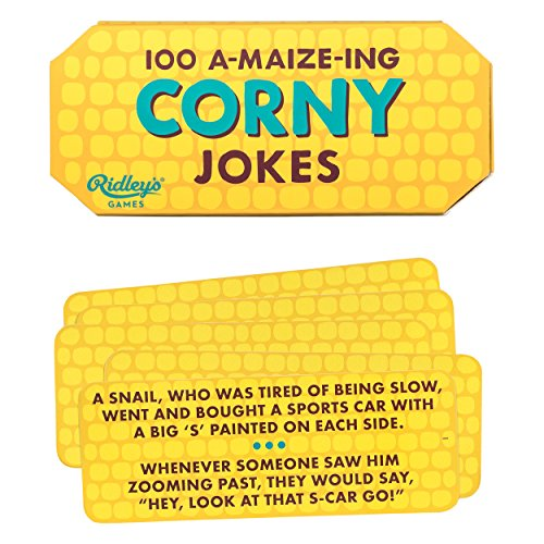 Ridley's 100 Corny Corn on The Cob Hilarious Joke Cards for Adults and Kids (Best Popsicle Stick Jokes)