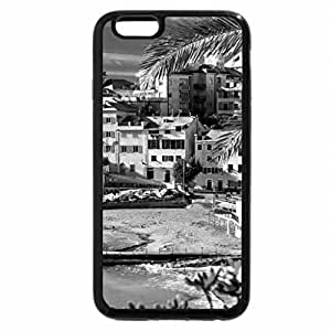 iPhone 6S Plus Case, iPhone 6 Plus Case (Black & White) - colorful sun drenched seaside town