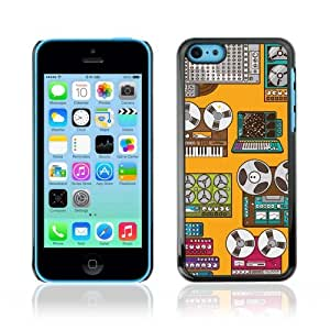 Designer Depo Hard Protection Case for Apple iPhone 5C / Cool Retro Devices Art